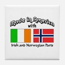 Irish & Norwegian Parts Tile Coaster