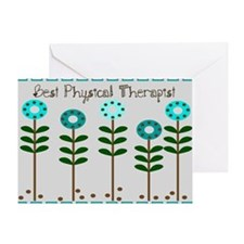 Physical Therapist A Blanket blue grey Greeting Ca