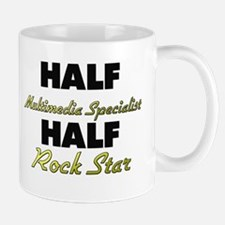 Half Multimedia Specialist Half Rock Star Mugs