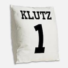 Gravity #1 Klutz Burlap Throw Pillow