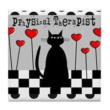 physical Therapist A Blanket CAT Tile Coaster