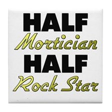 Half Mortician Half Rock Star Tile Coaster