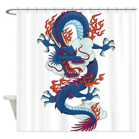 Dragon fantasy anime shower curtain by for Fantasy shower curtains