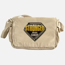 Stronger than cancer Messenger Bag