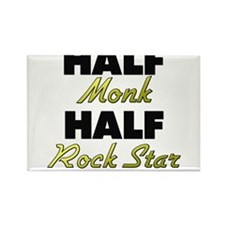 Half Monk Half Rock Star Magnets