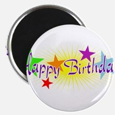 Happy Birthday with Stars Magnets