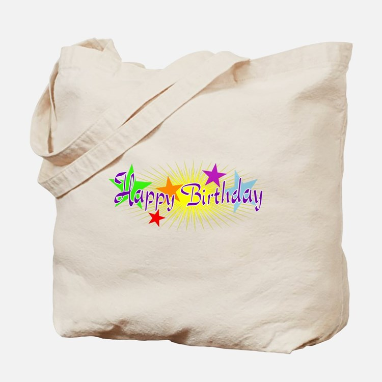 Happy Birthday with Stars Tote Bag