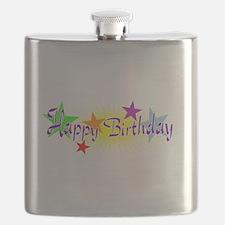Happy Birthday with Stars Flask