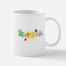 Happy Birthday with Stars Mugs