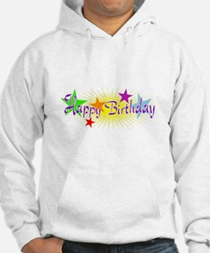 Happy Birthday with Stars Hoodie
