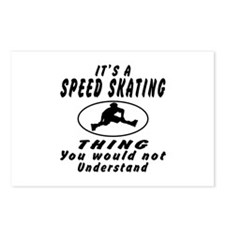 Speed Skating Thing Designs Postcards (Package of