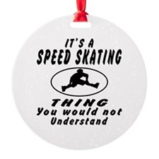 Speed Skating Thing Designs Ornament