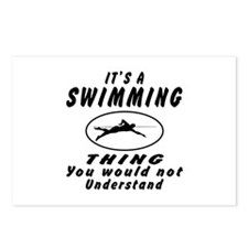 Swimming Thing Designs Postcards (Package of 8)