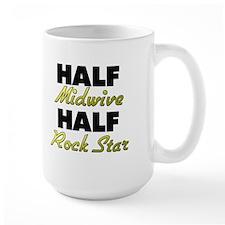 Half Midwive Half Rock Star Mugs