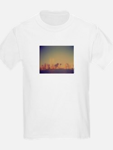 """Manhattan Skyline"" Kids T-Shirt"