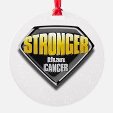 Stronger than cancer Ornament
