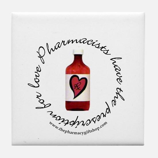 prescription for love pharm Tile Coaster