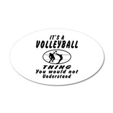 Volleyball Thing Designs 20x12 Oval Wall Decal