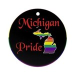 Michigan Pride Ornament (Round)