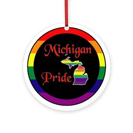 Michigan Pride Ornament (Round)