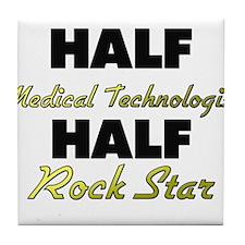 Half Medical Technologist Half Rock Star Tile Coas