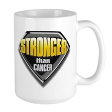 Stronger than cancer large Mug