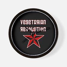 Vegetarian Revolution Wall Clock
