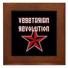 Vegetarian Revolution Framed Tile