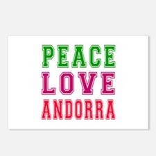 Peace Love Andorra Postcards (Package of 8)