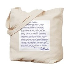 """A Note from Linda"" Tote Bag"