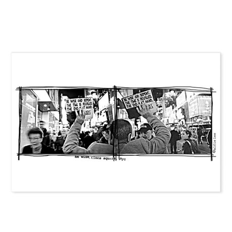 """""""Be Wise, Times Square"""" Postcards (Package of 8)"""