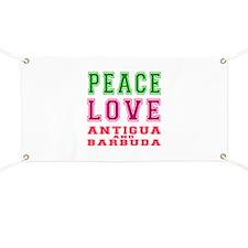 Peace Love Antigua and Barbuda Banner
