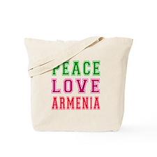Peace Love Armenia Tote Bag