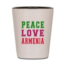 Peace Love Armenia Shot Glass