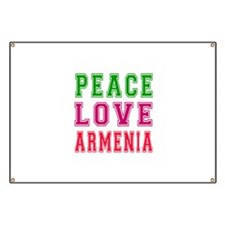 Peace Love Armenia Banner