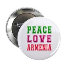 "Peace Love Armenia 2.25"" Button"