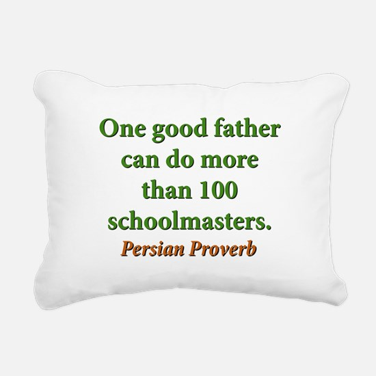 One Good Father Rectangular Canvas Pillow