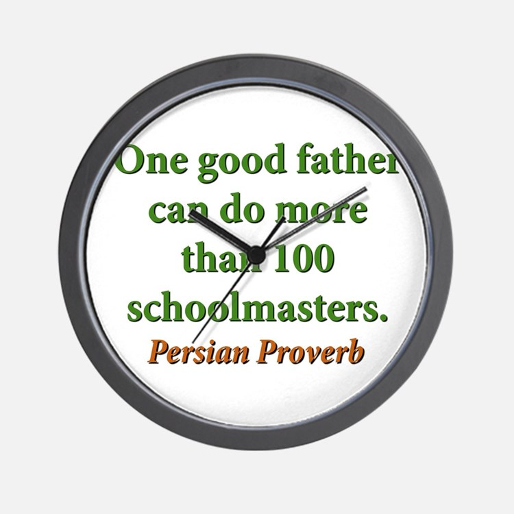 One Good Father Wall Clock