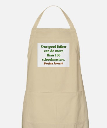 One Good Father Light Apron