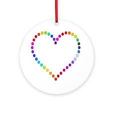 Rainbow Heart Ornament (Round)