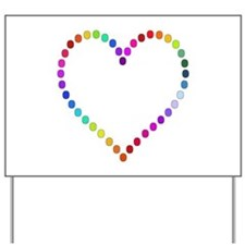 Rainbow Heart Yard Sign