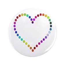 """Rainbow Heart 3.5"""" Button"""