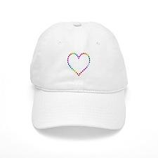 Rainbow Heart Baseball Cap