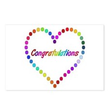 Rainbow Congratulations Postcards (Package of 8)