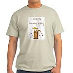 I Love My Country Kitty Ash Grey T-Shirt