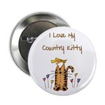 I Love My Country Kitty Button