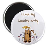 I Love My Country Kitty Magnet