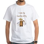 I Love My Country Kitty White T-Shirt