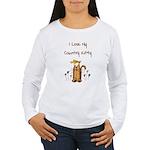 I Love My Country Kitty Women's Long Sleeve T-Shir
