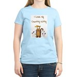 I Love My Country Kitty Women's Pink T-Shirt